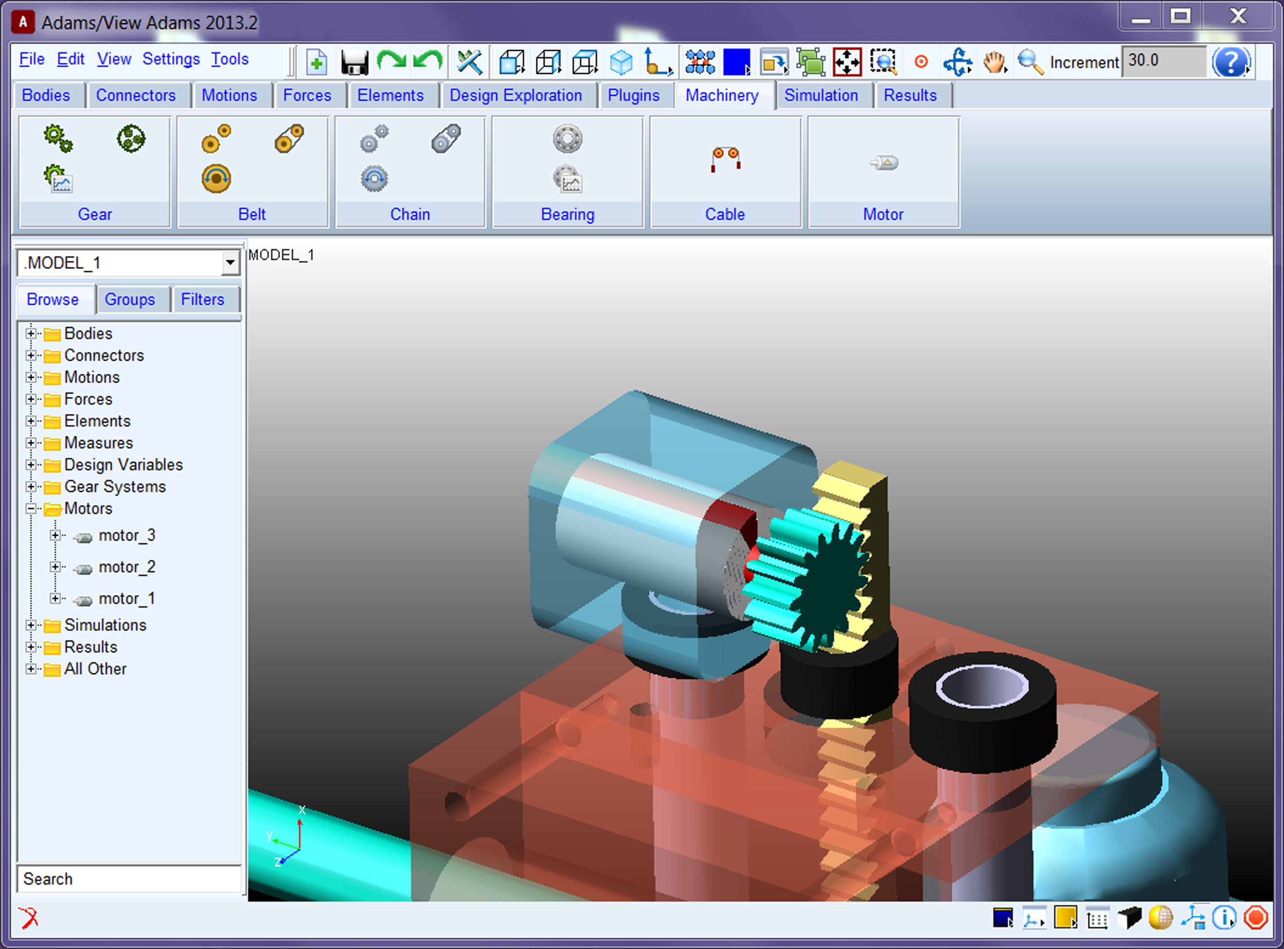 Adams machinery multicorpos engenharia Online modeling program